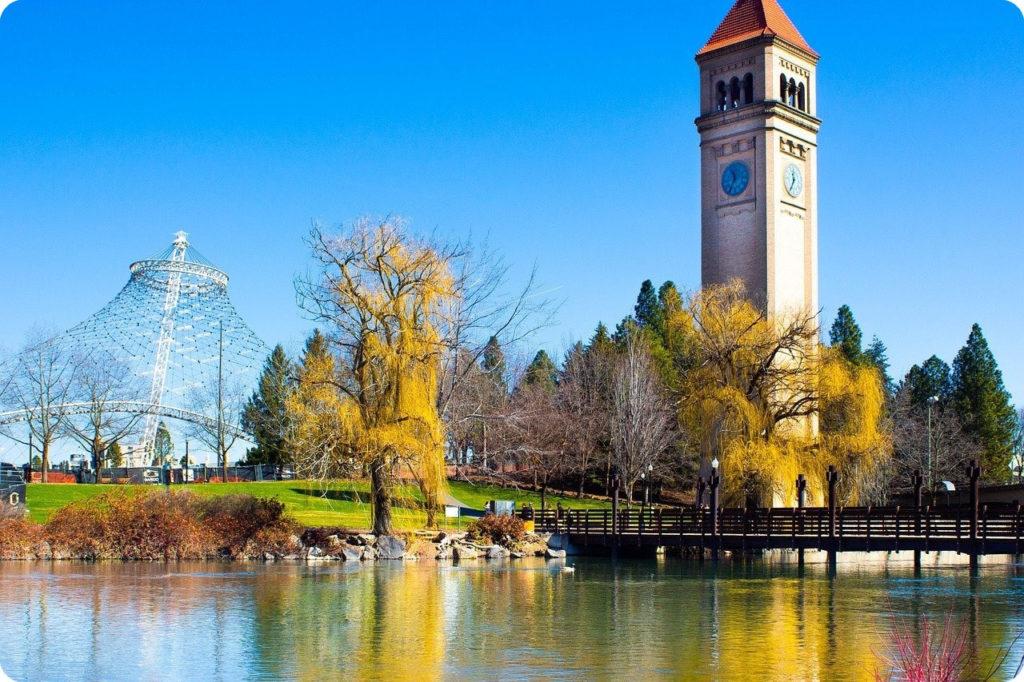 PNW Biking Tour Spokane Riverfront