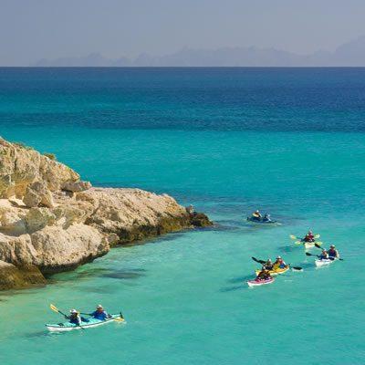 Baja tour kayaking cove